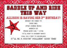 Cowboy Cowgirl  Kids Party DIY Printable by PartyKidsInvites, $10.50