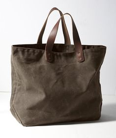 Waxed-Canvas Tote: BAGS | Free Shipping at L.L.Bean