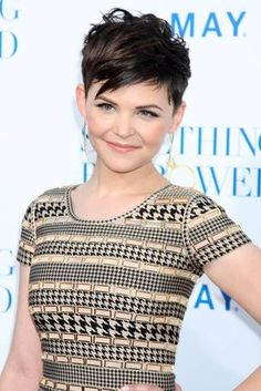 Ginnifer Goodwin's pixie cut. I wonder if this would work with my curly hair..