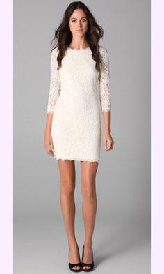 Bridal shower dress inspiration (Diane von Furstenburg Zarita Lace Dress)