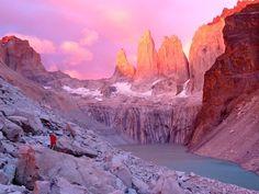 Sunrise over Towers of Paine Patagonia, Argentina Frances Kwok