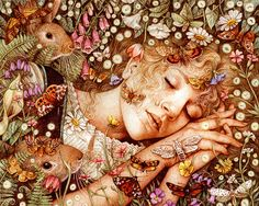 The Wild Swans by Anne Yvonne Gilbert, via Behance