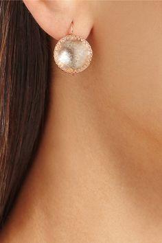 Larkspur & Hawk   Olivia Button rose gold-dipped topaz earrings   NET-A-PORTER.COM