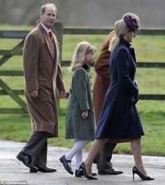 radition: Prince Philip is joined by Prince Andrew, Prince Edward, Sophie Wessex and Lady Louise Windsor