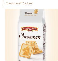 Pepperidge Farm Chessmen cookies - Buttery, sweet goodness!!