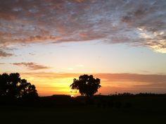 golf cours, kauai sunset