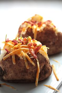 Classic Baked Potato and the Secret for the perfect, fluffy inside!