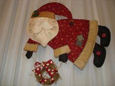 . muito natal, para artesanato, papai noel, mold para, artesanato em, como hacer, em tecido, noel voando