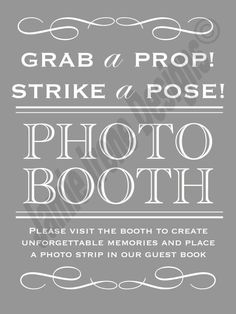 #Wedding Photo Booth Sign DIY by WeddingsByJamie on Etsy