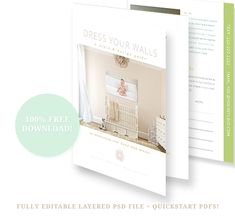 """Free """"Dress Your Walls"""" planner - get your clients thinking about wall art early in the process! #shootandsell #photography"""
