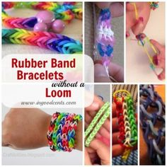 Rubberband Bracelets without Loom