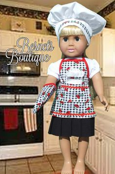 American Girl Doll ClothesChef's outfit with by BernetsBoutique, $19.95