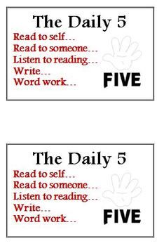 Daily 5 I PICK and Daily 5 Signs for Class Library