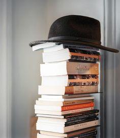 book stacks, via lonny