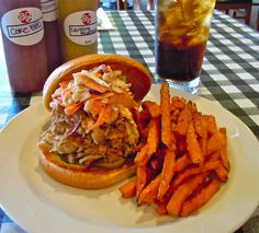 Big Jim's BBQ Sandwich with Coleslaw @Ginny Key Dunes on Hilton Head Island