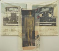 """Preview from the series Hoarfrost Editions  Robert Rauschenberg (American, 1925–2008)    1974. Offset lithograph and screenprint on fabric and paper bags, composition and sheet: 69"""" x 6' 8 1/2"""" (175.3 x 204.4 cm). Publisher: Gemini G.E.L., Los Angeles. Printer: Gemini G.E.L., Los Angeles. 32. Purchase"""