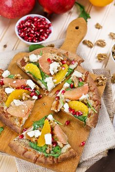 Citrus Chicken and Goat Cheese Pizza   by Sonia! The Healthy Foodie