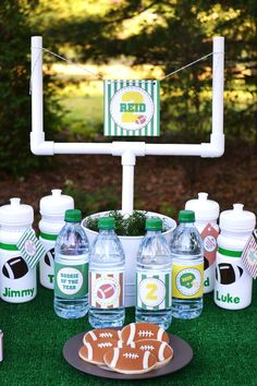 Football Tailgate Party Decorations - PRINTABLE Party Collection Package - By A Blissful Nest. $35.00, via Etsy.