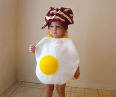 Just because it's cute! halloween stuff, halloween costume ideas, baby costumes, baby halloween costumes, bacon, toddler, egg, costume halloween, kid