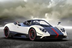 Pagani Zonda Cinque Roadster: That red racing stripe will set you back 1.8 million USD.