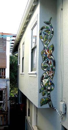 Frog Vine Mosaic Mural by Kim Larson Art, via Flickr