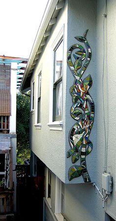 Frog Vine Mosaic Mural by Kim Larson Art, via Flickr