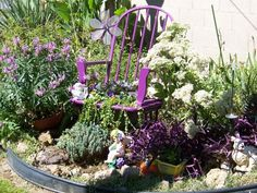 purple garden corner by jlily