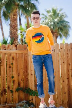 #OOTD Blake of @Blake and Ashley Summer stylin in #HUDSON Sartor #SkinnyJeans in Rebel Roadside
