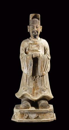 Ming Painted Terracotta Civic Official