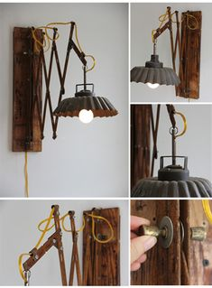scrap metal lamp #diy #upcycle #recycle #lamp @gibmirraum