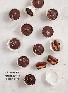 Chocolate PB and J Cups