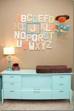 Cute art idea for playroom