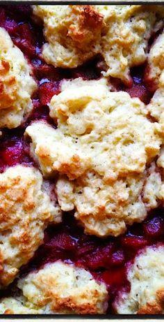 #GlutenFree Rhubarb Vanilla Bean Cobbler | heartbeet kitchen