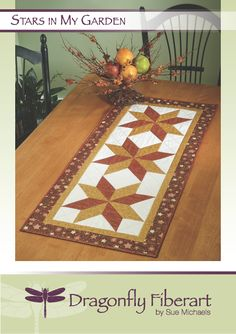 Stars In My Garden Quilted Table Runner