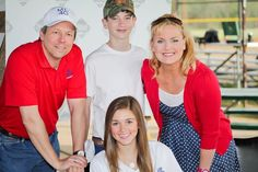 John, Jack & Jinny Henson with Sadie Robertson at The MLfG Invitational April 2013