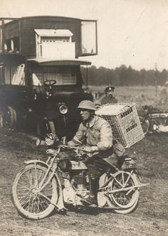 prev pinner note: British soldier delivering pigeons to trenches of the Western Front, c.1916