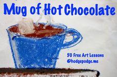 Mug of Hot Chocolate Chalk Pastel Tutorial at Hodgepodge