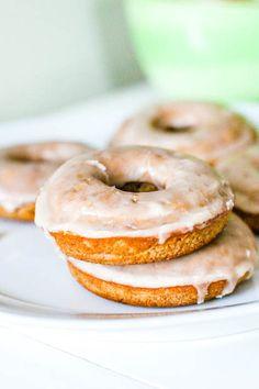 Vanilla Glaze recipe-  Baked Cinnamon Bun Donuts w/ Vanilla Glaze