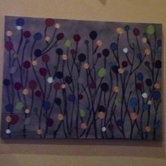 Easy canvas painting and looks great with any color