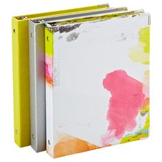 Great Mini Three-Ring Binders to keep your notes organized!