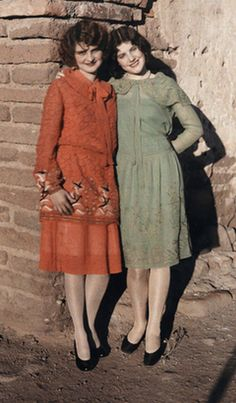 the national, fashion, vintage, national geographic, colors, dresses, 1920s, flappers, color photography