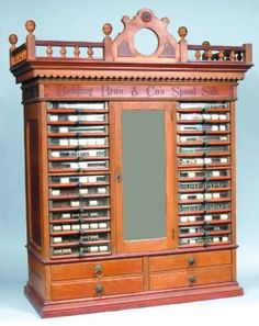 'Belding Bros. & Co. Spool Silk' Spool Cabinet, Bob followed my groans of desire over this and said I was looking at sewing porn!