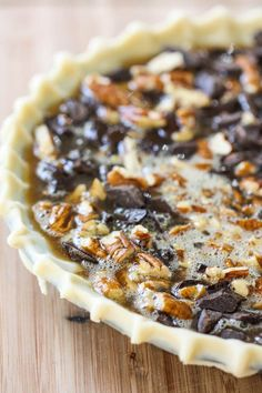 Chocolate Bourbon Pecan Pie (Derby Pie)