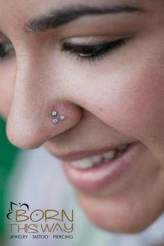 bodi jewelri, tripl nose, bodi modif, nose pierc, bodi pierc, nostril pierc