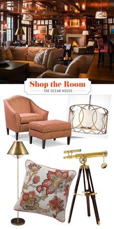 Design your living area around a captain's quarters look. Shop this room with our favorite picks. | coastalliving.com