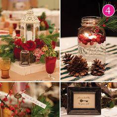 idea, christmas tables, weddings, snow globes, christmas wedding