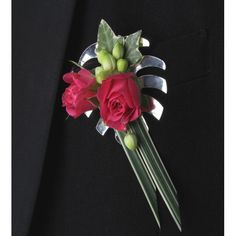 Monstera Boutonniere - Silver