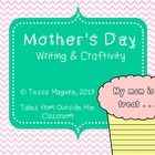 "A cute Mother's Day writing and craftivity.  The prompt included is ""My mom is a treat...""  The pages can be copied onto colored paper, or can be c..."