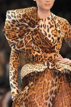 couture details, christians, fashion styles, christian dior, anim print