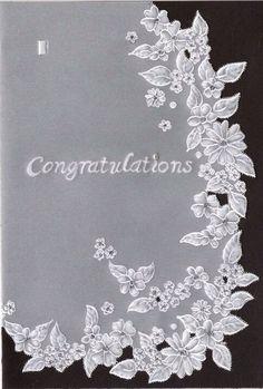 Wedding card daisy chain pattern.